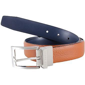 Ted Baker Karmer Reversible Leather Belt - Tan/Navy