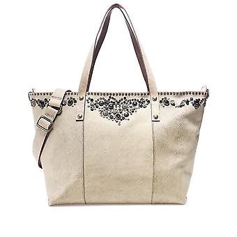 Campomaggi Studded Leather Shopper Bag