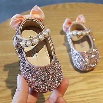 Chaussures de filles, sandels de marche de fleur de perles, pour la robe de princesse