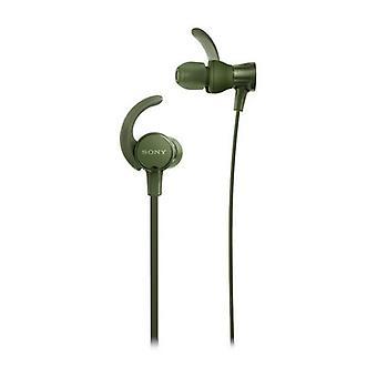 Auriculares de botón Sony MDRX (3,5 mm) Verde
