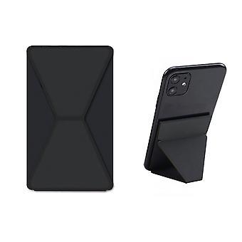 Devia Universal Stickable Klistermärke / Telefonhållare Svart - Magnethållare - Fingergreppshållare - Telefonstativ Horisontellt eller vertikalt - Hopfällbart