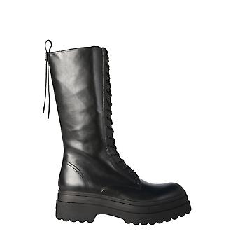 Red Valentino Uq0s0e47ggu0no Women's Black Leather Boots
