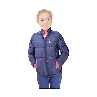 Little Rider Annabelle Girls Padded Jacket - Navy/pink