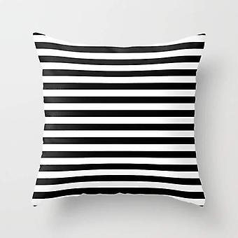 Modern Stripes Monochrome Pattern Pillow Cover