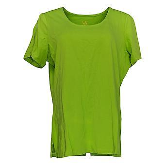 Belle by Kim Gravel Women's Top TripleLuxe Knit Split-Sleeve Green A350515