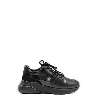 Hogan Ezbc030231 Women's Black Leather Sneakers