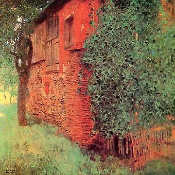 Stuehus på Kammer plakat Print af Gustav Klimt