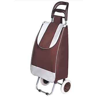 Collapsible Cart Shopping Bag On Wheels, Small Pull, Folding Trolley Car