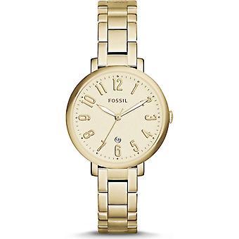 Fossiiliset ES3971 Jacqueline Gold Tone Dial Steel Ladies Watch