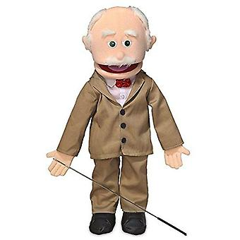Pops, peach grandfather, full body, ventriloquist style puppet, 65cm