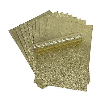 A4 Gold Glitter Paper Soft Touch Non Shed 150gsm Pack of 10 Sheets