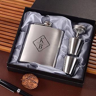 Square Monogram Flask