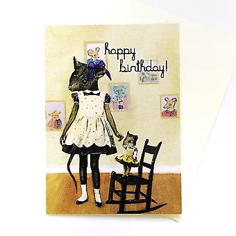 Happy Birthday Rodent Card