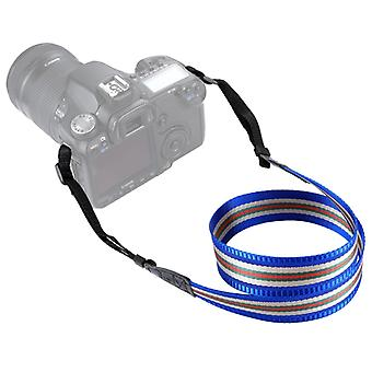 PULUZ Stripe Style  Series Shoulder Neck Strap Camera Strap for SLR / DSLR Cameras(Blue)