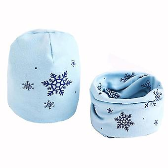 Fashion Star Print Beanies Lovely Owl Swan Ring Collar Cotton Cap Kids