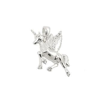 Caballos alados colgantes Unicornio Plata 925