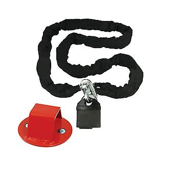 Bike It Mammoth Security Hexagon Lock Chain with Bolt-in Ground Anchor Bundle