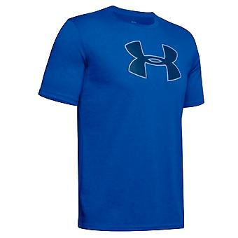 Under Armour Mens Big Logo T-Shirt Casual Graphic Top Blue 1329583 486