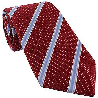 Michelsons von London Fleck Streifen Seide Krawatte - rot