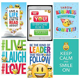 Inspire U Emoji Fun Posters, Pack Of 6