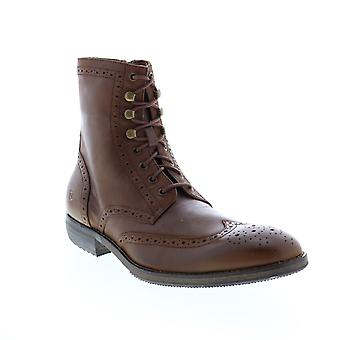 Andrew Marc Hillcrest  Mens Brown Leather Casual Dress Boots