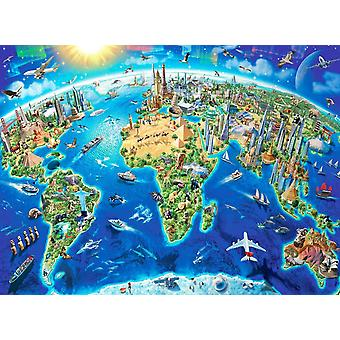 JMbeauuuty Wonderful World Map Jigsaw Puzzles for Adults 1000 Pieces 19.69 x 29.53 Inches