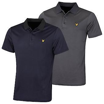 Lyle & Scott Mens Microstripe Light Wicking Golf Polo Shirt