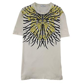 Versace Collection Girocollo Classic Print T Shirt Off White