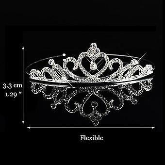 prinsesse bryllup brude brudepike tiara krone pannebånd hår tilbehør