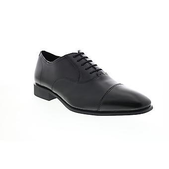 Geox Uomo High Life Herren schwarz Leder Oxfords & Schnürsenkel Cap Toe Schuhe