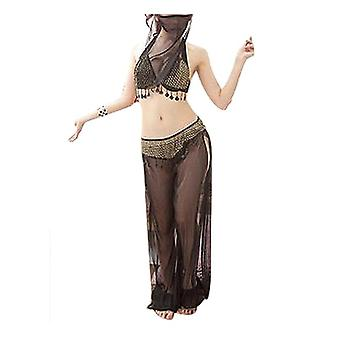 Belly Dance Costumes With Veils (black One Size)