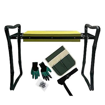 Folding Garden Kneeler And Seat With Handles Stainless Steel Garden Stool