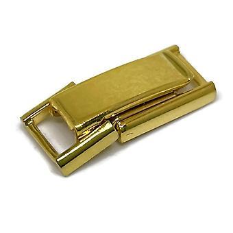 Watch strap bracelet clasp fold expanding 7mm short gold plated