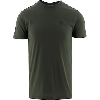 EA7 Zielony T-Shirt z logo z krótkim rękawem