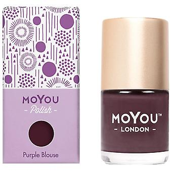 MoYou London Stamping Nail Lacquer - Purple Blouse 9ml (MN162)