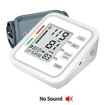 New digital automatic blood pressure monitor upper arm automatic cuff bp machine & pulse rate monitoring meter,large lcd display