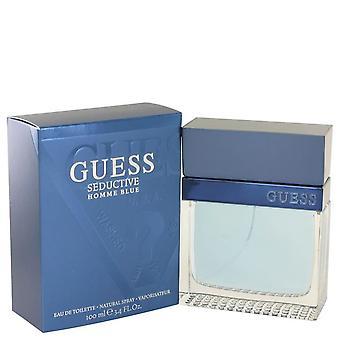 Guess Seductive Homme Blue Eau De Toilette Spray By Guess 3.4 oz Eau De Toilette Spray