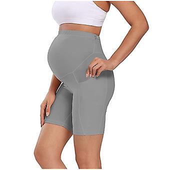 Kvinde Gravid Mini Yoga Fitness Sports Solid Høj talje Slim Gravid