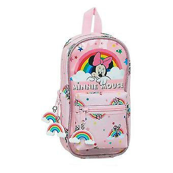 Backpack pencil case minnie mouse rainbow pink (33 pieces)