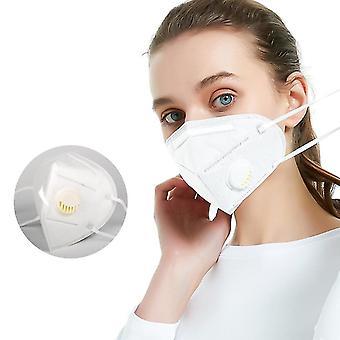 Kn95 kasvonaamiot pm2.5 puhdistimen vaahtoamisen roiskesuojaus hengitysventtiilillä