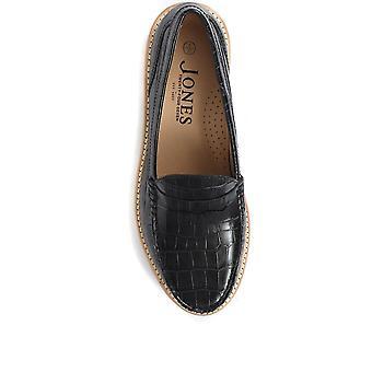 Jones 24-7 Womens Greenwood Chunky Leather Loafers