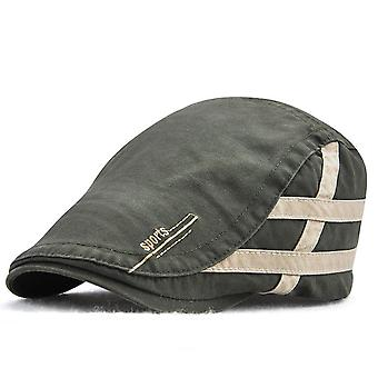 Simple men's beret embroidered peak cap outdoor sunscreen leisure sun hat
