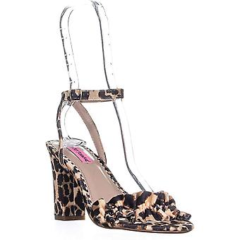 Betsey Johnson Womens Iliana Fabric Open Toe Casual Ankle Strap Sandals