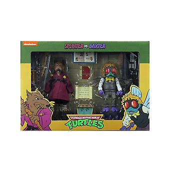 NECA TMNT Splinter & Baxter Stockman Cartoon 2-Pack 7 Inch Action Figure