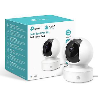TP-LINK (KC115) Kasa Spot Câmera de vigilância sem fio interior, 1080p, Pan e Inclinação, Visão Noturna, Áudio de 2 vias, Gravação 24/7, Armazenamento em Nuvem Gratuito