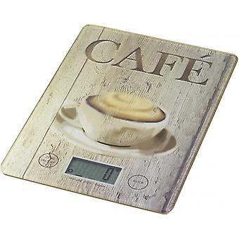 küchenwaage Café 14 x 19,5 cm Glas braun