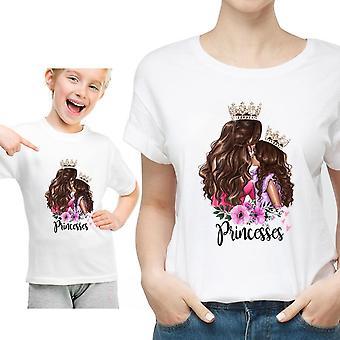 Family Matching Clothes T-paita, Naisten Tytär Äiti T-paita, Toppit