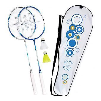 بالتأكيد النار أثينا اثنين من لاعب مضرب تنس الريشة كبار واللعب مجموعة