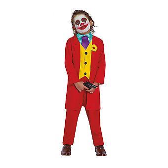 Gek rood clown vermommingskind