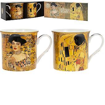 Sett med 2 Gustav Klimt China-krus
